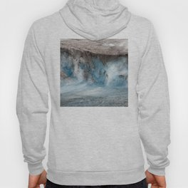 Alaskan Tiers of Exotic Blue Ice Crystals Glacier Hoody