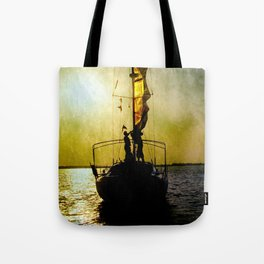 sunset and sailors Tote Bag