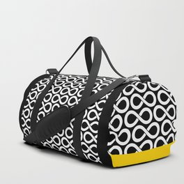 Black and White Infinity Symbols Pattern Duffle Bag