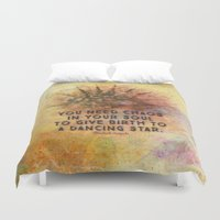chaos Duvet Covers featuring Chaos by Ginkelmier