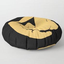 Yellow nude Floor Pillow