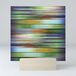 Colorful Metal Ribbons Pattern Mini Art Print