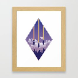 Rainbow Attack Framed Art Print