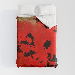 Red Modern Contemporary Abstract Textured Design Duvet Cover
