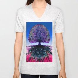 Tree of Life Creative Link Unisex V-Neck