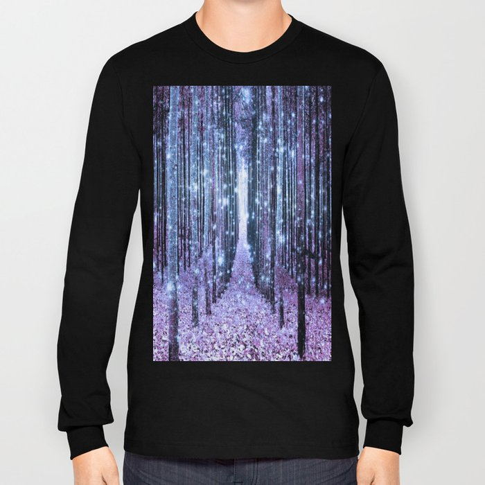 Magical Forest Lavender Ice Blue Periwinkle Long Sleeve T-shirt