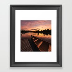 Mersey River Glow Framed Art Print