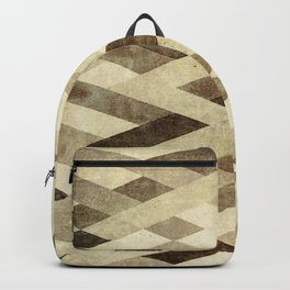 Abstract Pattern in Brown Backpack