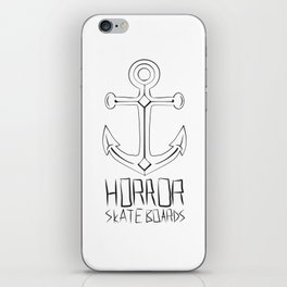 Horror Skateboards anchor  iPhone Skin
