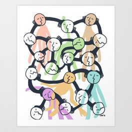 Connected Dreamers Art Print