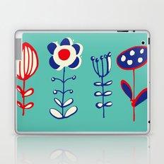 folk floral aqua Laptop & iPad Skin