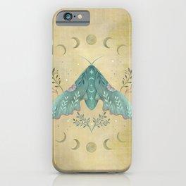 Luna and Moth - Oriental Vintage iPhone Case
