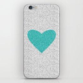 Aqua Love iPhone Skin