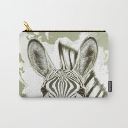 Love and Stripes - zebra black Carry-All Pouch