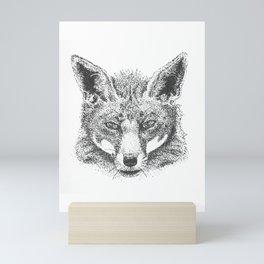 Skeptical Fox Mini Art Print