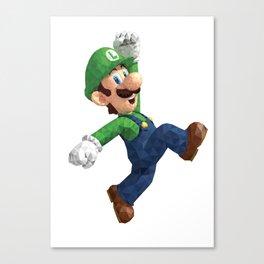 Luigi Super Mario Nintendo Illustration Pixel Art Canvas Print