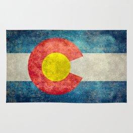 Colorado State flag - Vintage retro style Rug
