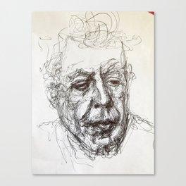 Anthony bourdain sketch Canvas Print