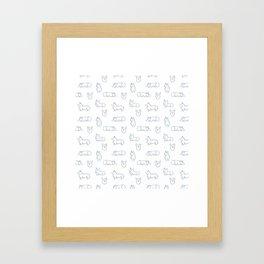 Corgi Pattern Framed Art Print