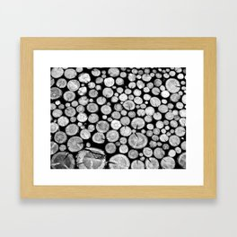 woodpile Framed Art Print