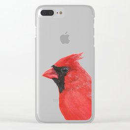 Northern Cardinal portrait Clear iPhone Case