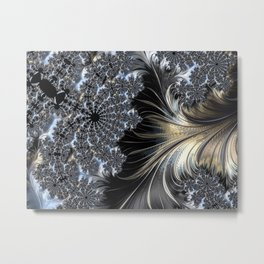 Feathers and Lace Metal Print