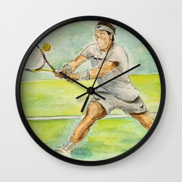 Rafael Nadal Pro Tennis Player Wall Clock