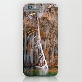 - Hanging Lake print  bA spring that knows no summer  iPhone Case