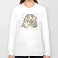 supreme Long Sleeve T-shirts featuring cats by Laura Graves