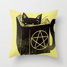 Witchcraft Cat Throw Pillow