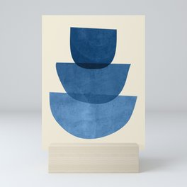 Abstract Shapes 37-Blue Mini Art Print