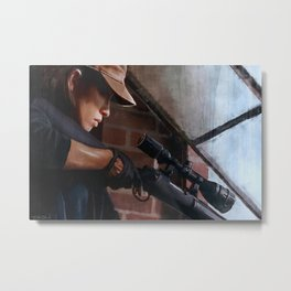 Rosita The Sniper - The Walking Dead Metal Print