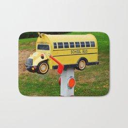 School Bus Mailbox Bath Mat
