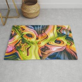 turne III. Colorful Abstract Melt Rug