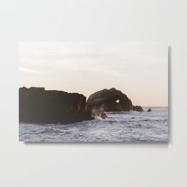 Sutro Baths at sunset Metal Print