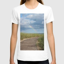 Rainbow at the end of the Path T-shirt