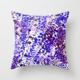 sparkling dots in ultramarine Throw Pillow