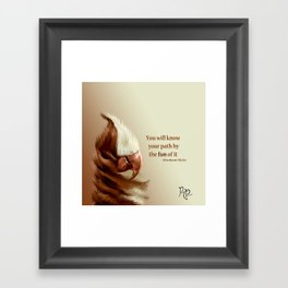 "Posh Parrot ""ChocVan Swirl"" Framed Art Print"