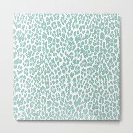Mint Leopard Print Metal Print