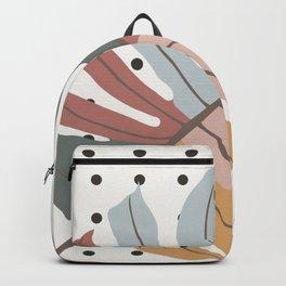 Colorful Monstera Leaf Backpack