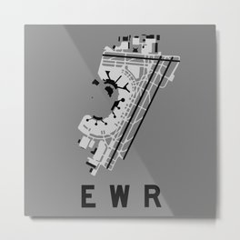 EWR Airport Diagram Metal Print