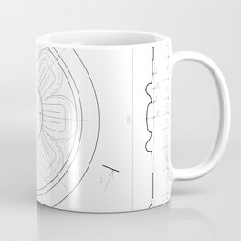 Small architectural rosette Coffee Mug