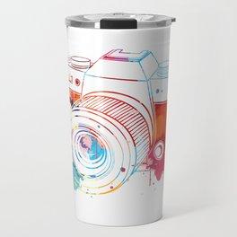 Camera Watercolor Travel Mug