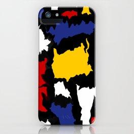 Manic Mondrian 1 iPhone Case