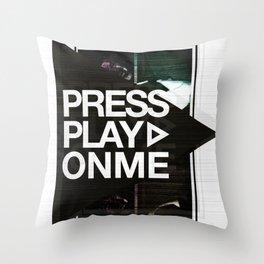 Pressplayonme #2  Throw Pillow