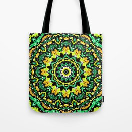 Orange Yellow and Green Kaldeidoscope 2 Tote Bag
