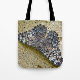Turquoise and Sand Butterfly by Teresa Thompson Tote Bag
