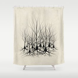 Pyramidal Neuron Forest Shower Curtain