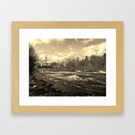 antique river Framed Art Print