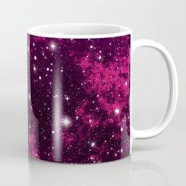 Red milky way galaxy and starry sky Coffee Mug